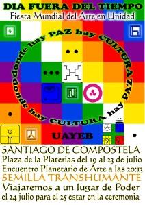 Cartel UAYEB - dia fuera del Tiempo en Santiago del Compo estelar