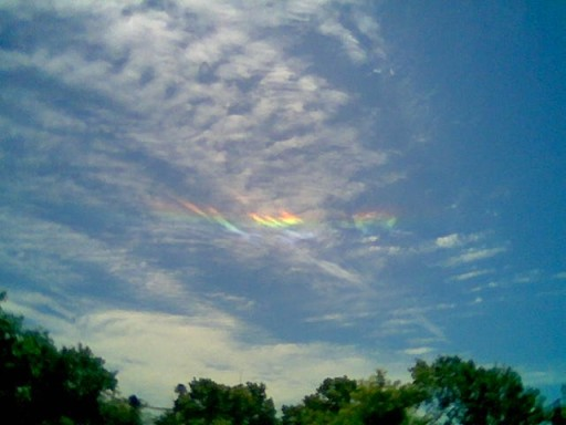 arcoiris circumpolar a la vista