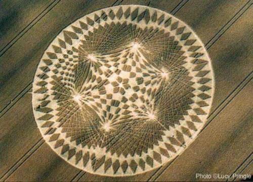 Noosfera en un mandala crop circle