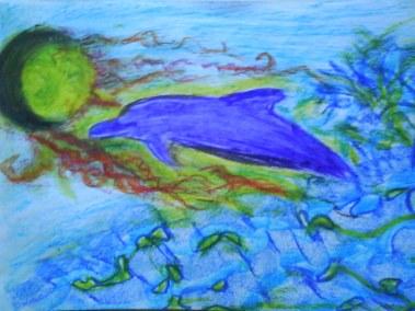 delfin en el Oceano de amor electromagneto de la Luz sonora del agua universal purificadora