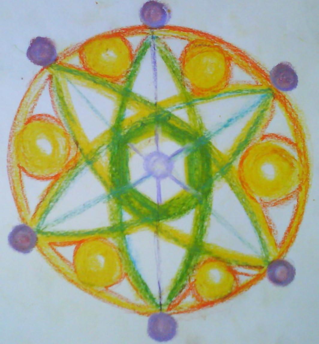 Atomo del Tiempo Telepatico , Mandala de la Flor de la vida