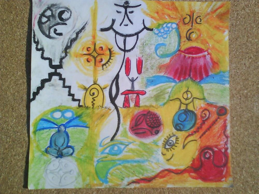 El Amor infinito es cosmicamente creativo en la libre voluntad del arte floreciente