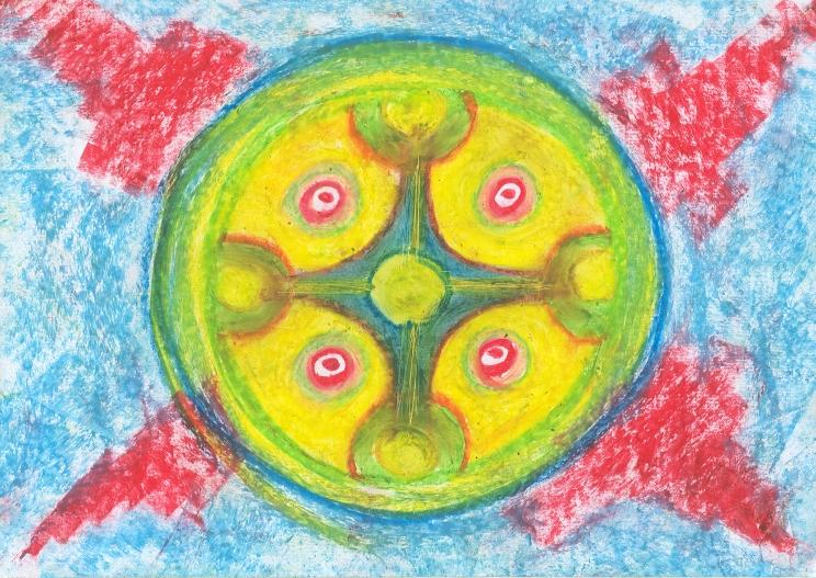 Mandala Radial la Esfera de la Magia del Amor Cosmico