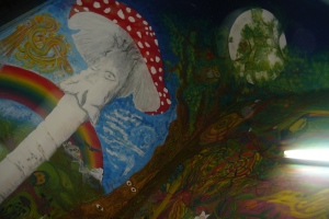 Cartel - Mural dedicado a la cultura enteógena