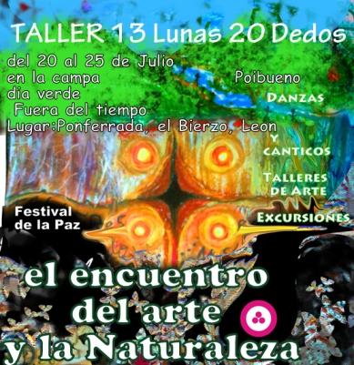 """Taller 13 Lunas y 20 dedos: """"Fora do tempo"""": En el Encuentro del Arte y la Naturaleza"""