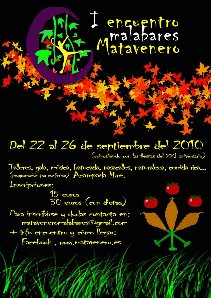Cartel Encuentro Malavares Matavenero
