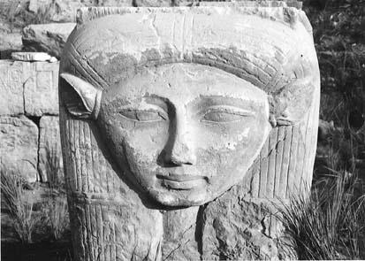 hathor escultura egipcia