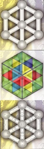 atomo del tiempo cubo de la ley del tiempo y flor crop circle