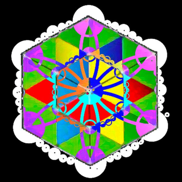 cubo de la vida átomo del tiempo crop circle