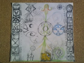 tzolkin clave central la magia del amor cósmico. laminas y rollos xochipilli