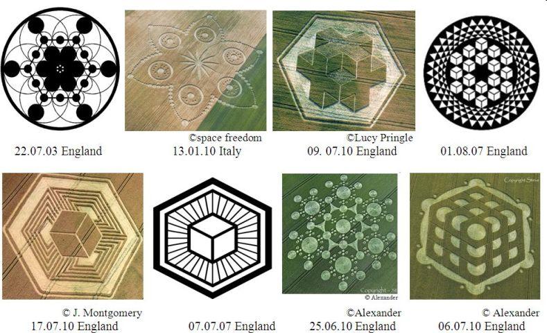 mándalas cósmicos de la ley del cubo