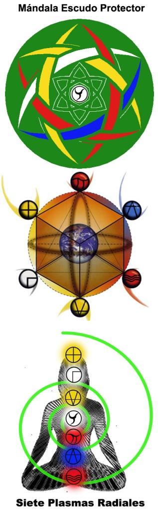 Escudo-mandala-siete-plasmas-radiales-verde