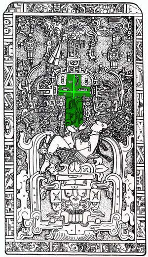 tumba pacal votan cruz cósmica