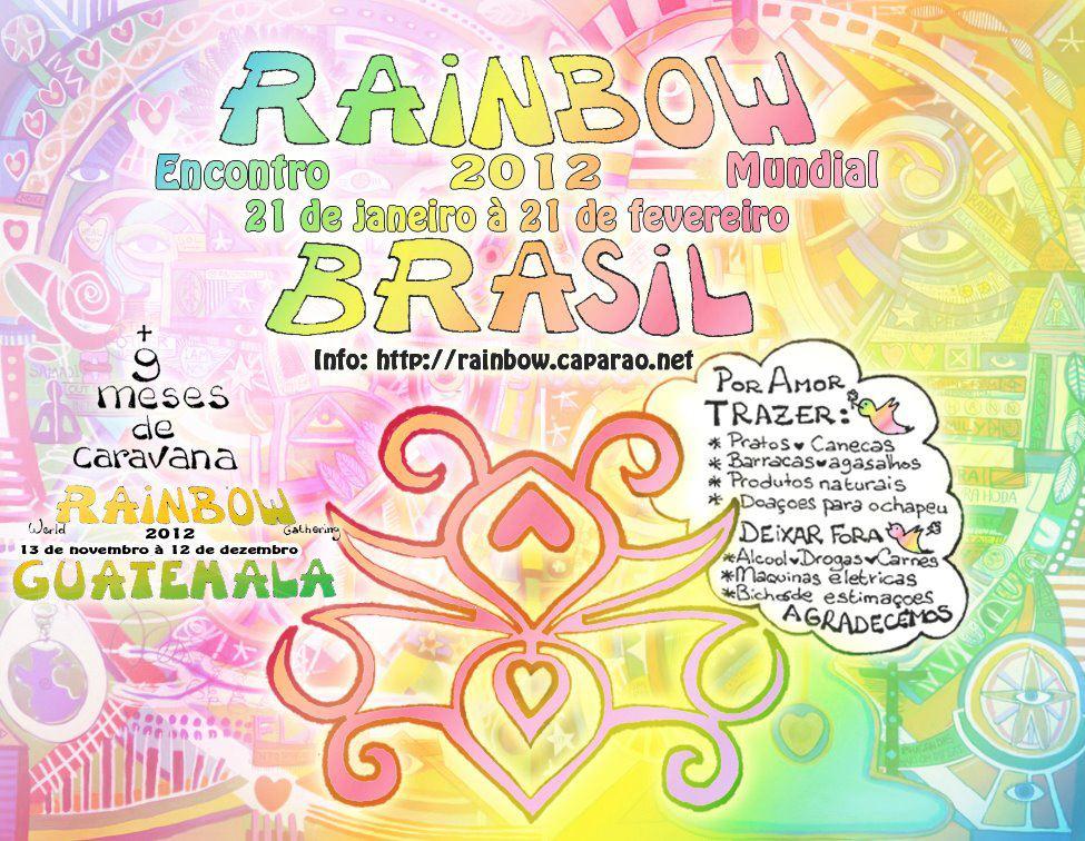 encuentro arco iris mundial 2012 Brasil Guatemala cartel de llamada