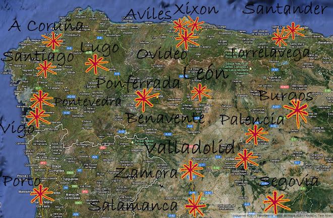 : MAPA : Asambleas del Noroeste