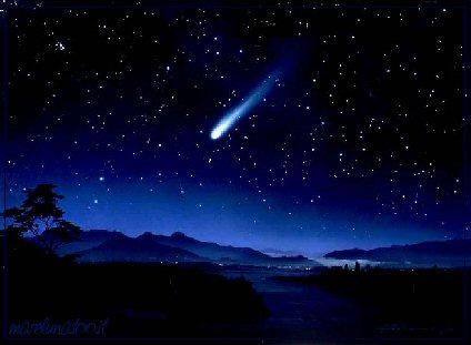 cometa ISON - pintura imaginaria