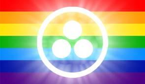 bandera de la paz arco iris