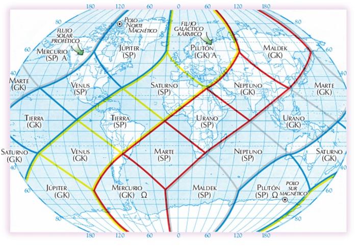 Geomancia Planetaria- Holón Planetario -20 regiones Cuerpo flor Maya Tierra