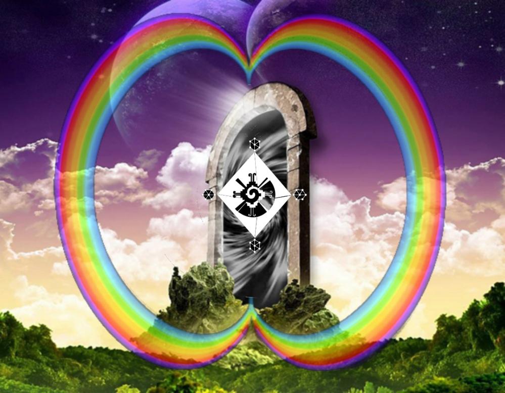 Puertas-Dimensionales hunab ku arco iris  circumpolar