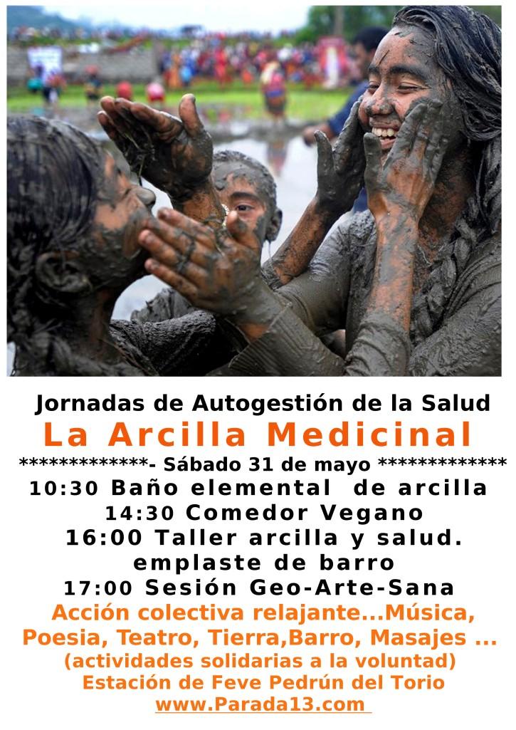 cartel jornadas arcilla medicinal barro p13