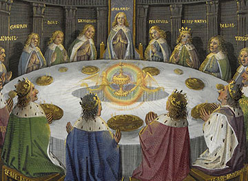 La mesa redonda de Arturo y el Grial